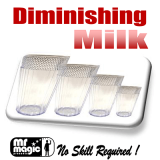 Diminishing Milk Glass