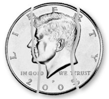 Folding Coin/Coin In Bottle - Half Dollar